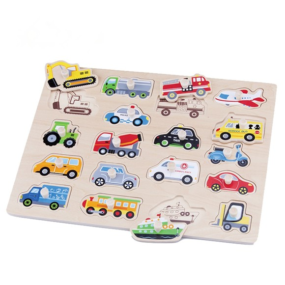 New Classic Toys - Wooden Puzzle - Vehicles (N10536)