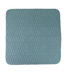 Sebra - Quiltet Tæppe, In The SKy 120x120 cm - Cloud Blue (4001103)