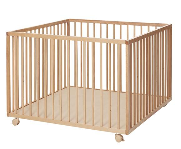 Baby Dan - Comfort Stor Kravlegård 99x99x73 cm - Natur