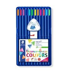 Staedtler - Coloured pencil ergosoft 12pcs FSC 100% 10+2 (157 SB12 P3)