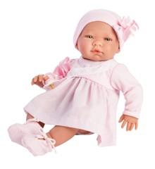Asi dukker - Maria dukke med lyserød kjole (43 cm)