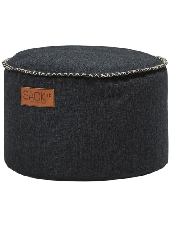 SACKit - RETROit Cobana Drum Puf - Sort (Kan bruges udendørs)