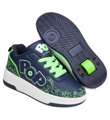 Heelys - Strike - Navy/Neon Green/Silver - Size 34 (POP-B1W-0061)