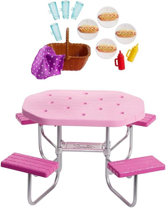 Barbie - Udendørs Møbler - Picnic Bord (FXG40)
