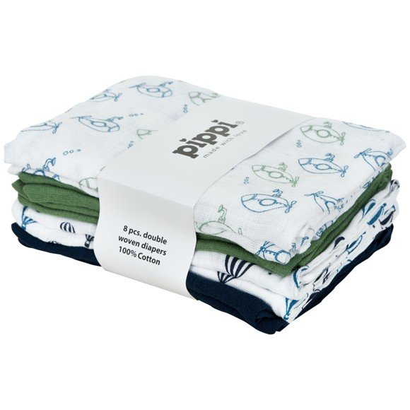 Pippi - Cloth Diapers 8-pack AO-printed