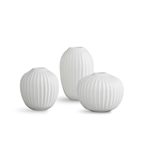 Kähler - Hammershøi Vase Miniature 3 pack - White (692397)