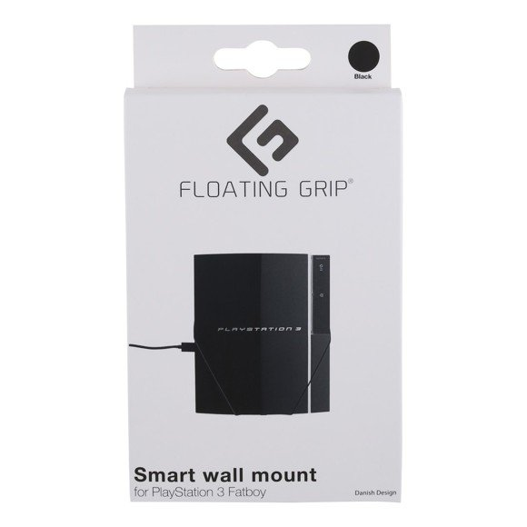 PS3 Fatboy wall mount by FLOATING GRIP®, Black