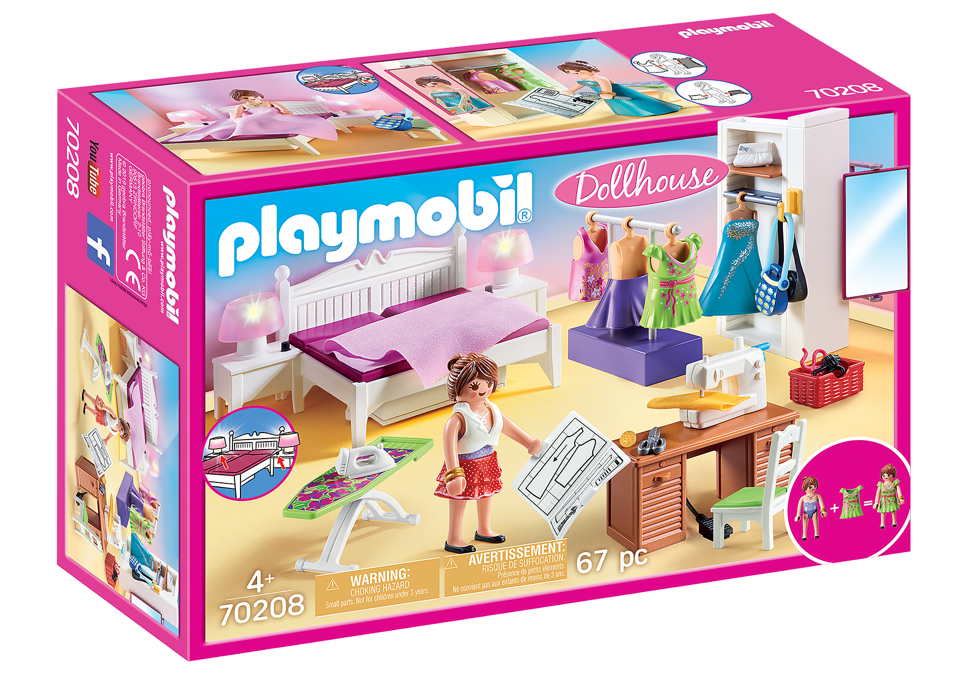Playmobil- Bedroom with Sewing Corner (70208)