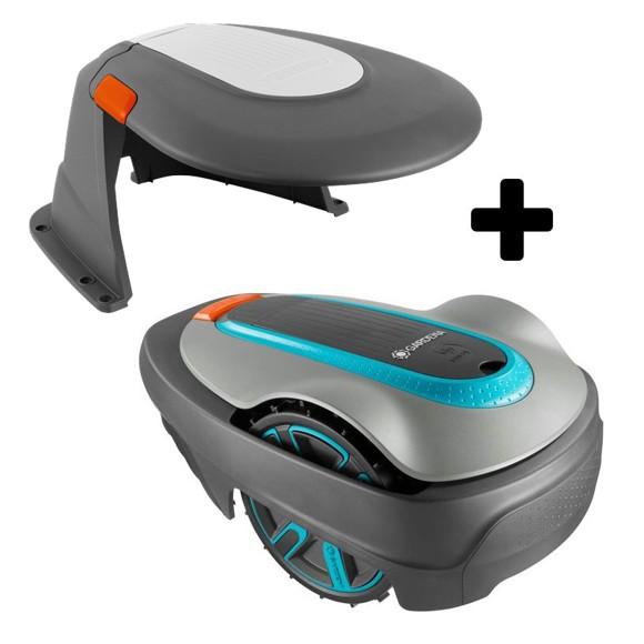 Gardena - Robotic Lawnmower SILENO City 500 + Garage  Bundle