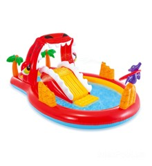 INTEX - Happy Dino Pool med Springvand & Rutchebane