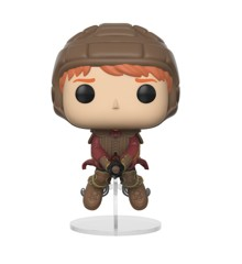 Funko Pop Movies Harry Potter Ron on Broom Collectible Figure + Protector