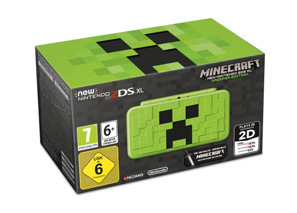 Nintendo 2DS XL Creeper Edition (Minecraft Pre-Installed)