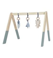 Little Dutch - Holz Babygym Spieltrapez mit Spielzeug, Blau (LDW4440)