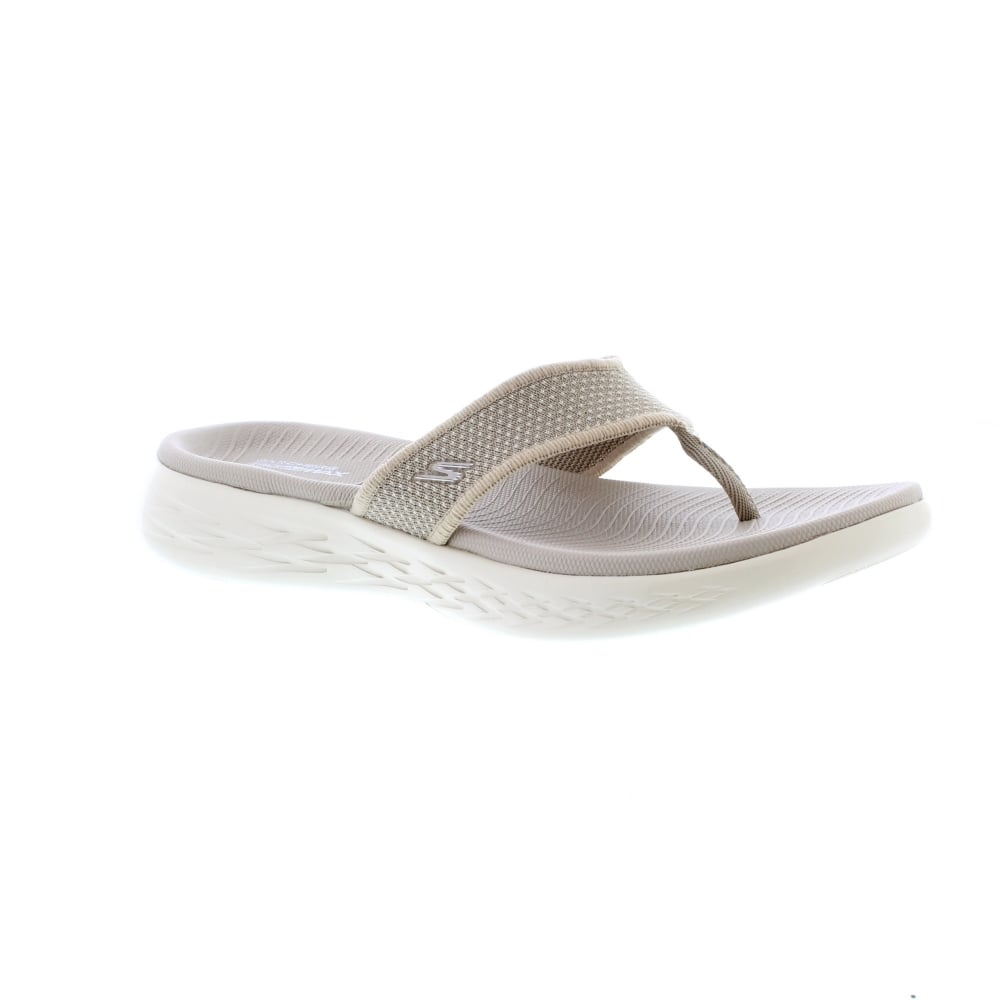 Køb Skechers 15300 On The Go 600 Taupe Womens Sandals