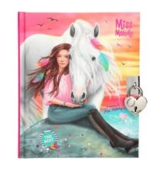Miss Melody - Dagbog m/Lås og Nøgle