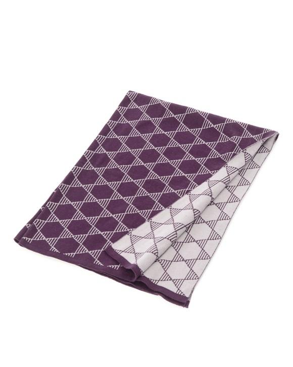 Smallstuff - Baby Blanket Knitted Star - Aubergine