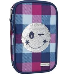 Top Model - Pencil Case Smiley Sequense - Blue (0010225)