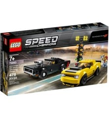 LEGO Speed Champions - 2018 Dodge Challenger SRT Demon and 1970 Dodge Charger R/T (75893)