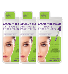 Skin Republic - 3x Spot and Blemish Face Sheet Mask