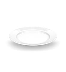 Pillivuyt - Plissé Tallerken Flad - Ø22 cm - Hvid