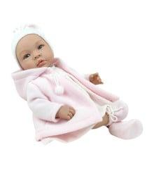 Asi dolls - Leonora doll with rose warm coat, 46 cm
