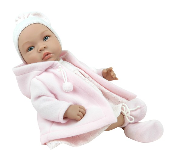 Asi dolls - Leonora doll with rose warm coat, 46 cm