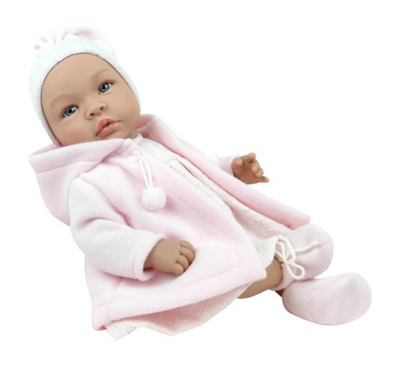 Asi dukker - Leonora dukke med varm frakke, 46 cm