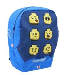 LEGO - Kindergarten Backpack - Faces/ Blue, (10030-2006)