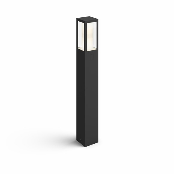 Philips Hue - Impress Post Black Outdoor - White & Color Ambiance