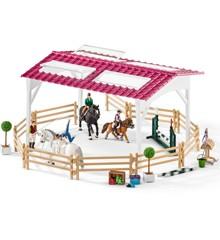 Schleich - Rideskole med ryttere og heste (42389)