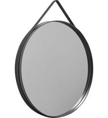 HAY - Strap Mirror Ø 70 cm - Anthracite (500013)