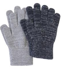 Melton - 2 pck Gloves - 2 Colours w. Lurex