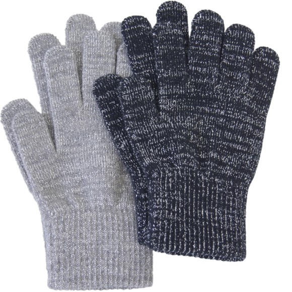 Melton - 2 pck Gloves - 2 Colours w. Lurex