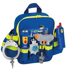Klein  - Polizei Rucksack incl Taschenlampe