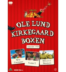 Ole Lund Kirkegaard boks - Orla Frøsnapper/Gummi T/Otto er et næsehorn - DVD