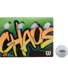 WILSON - CHAOS 24 ball WHITE GOLF BALLS
