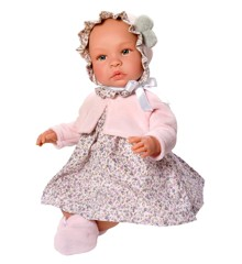 Asi dukker - Leonora dukke i blomstret kjole, 46 cm