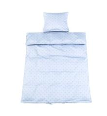 Smallstuff - Baby Sengetøj 70x100 cm - Light Blue Starut