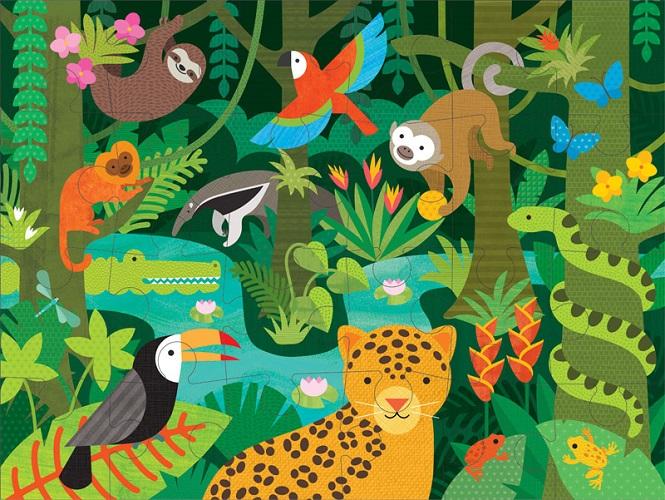 Petit Collage Wild Rainforest Floor