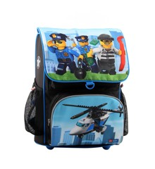 LEGO School Bag - Optimo - City - Police Chopper (2pcs) (20014-1835)