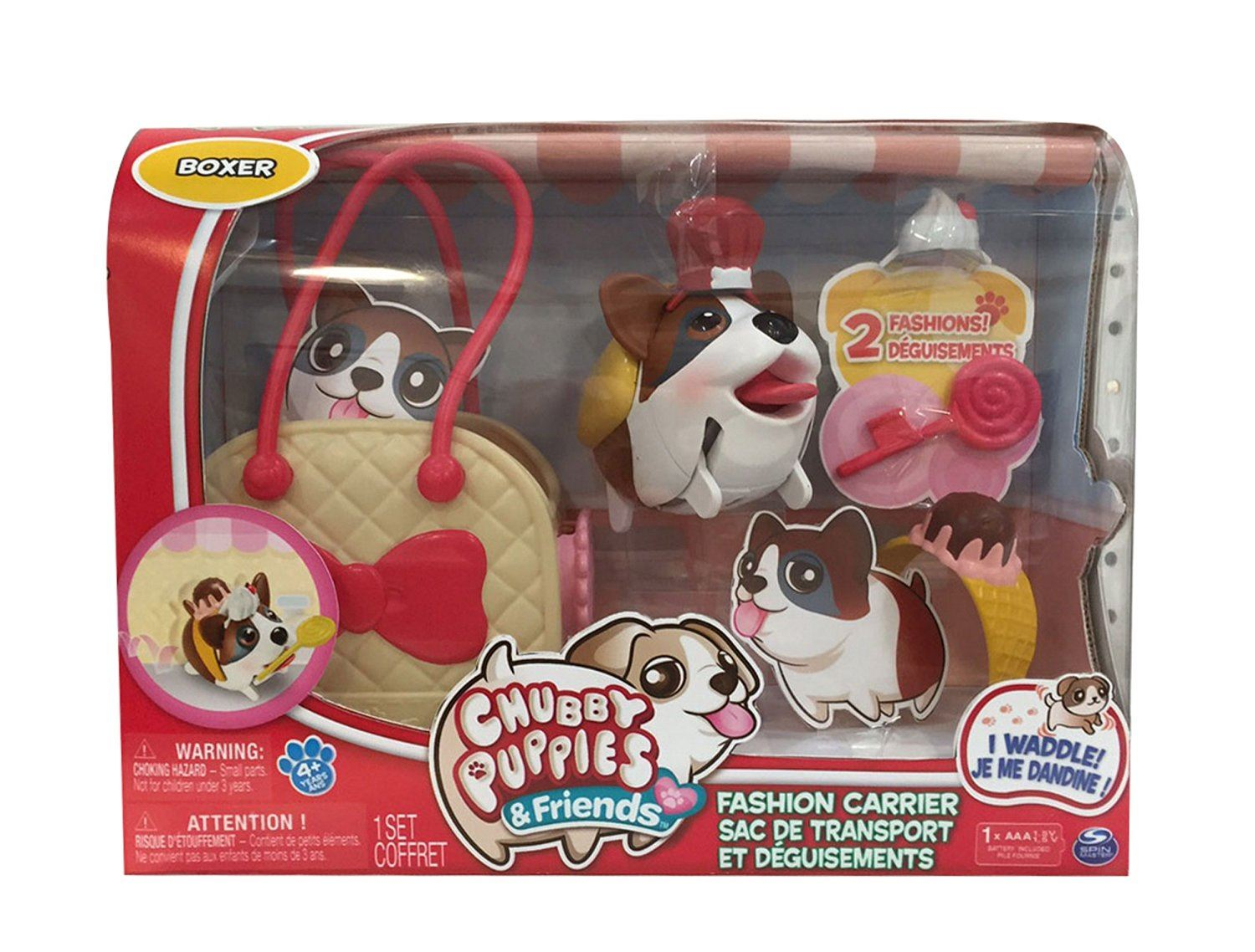 Køb Boxer - Chubby Puppies & Friends Fashion Set With Carrier