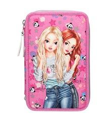 Top Model - Tripple Pencil Case - Panda - Pink (0410598)