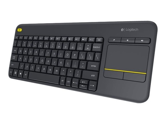 ​Logitech Wireless Touch Keyboard K400 Plus Black (Nordic)​