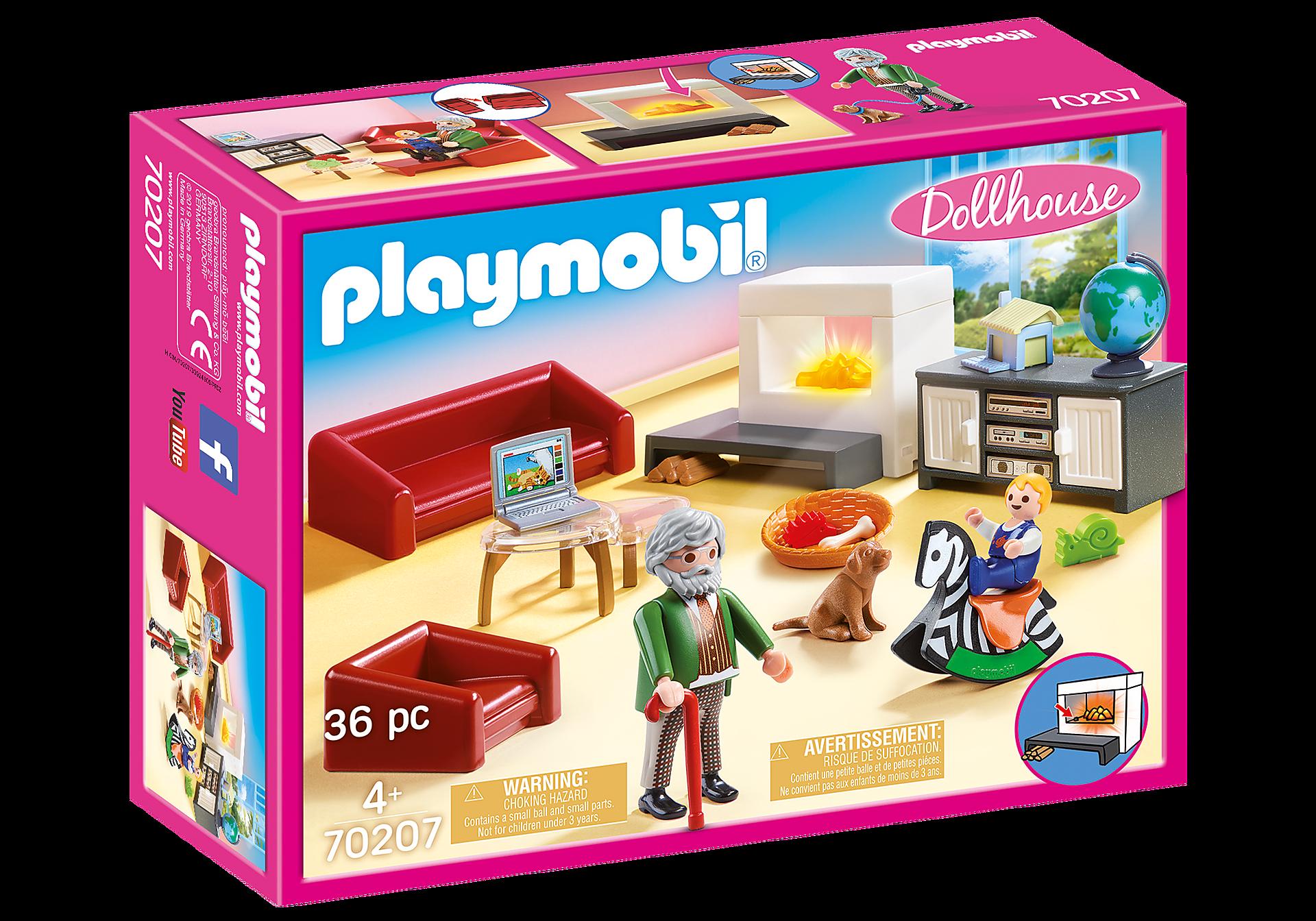 Playmobil - Comfortable livingroom (70207)