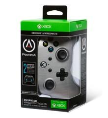 PowerA Xbox One Enhanced Wired - Brushed Aluminium