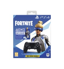 Sony Dualshock ohjain 4 V2 Black + Fortnite Bundle
