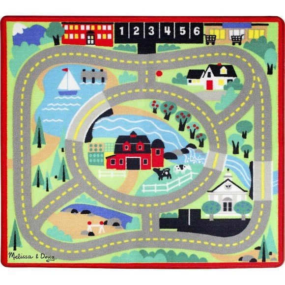 Melissa & Doug - Rug - Around the Town Road (19400)