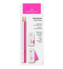 Faber-Castell - Sparkel Blyant - Hvid/Pink