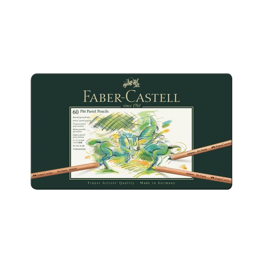 Faber-Castell - Pitt Pastel Colour pencil, 60 pc (112160)