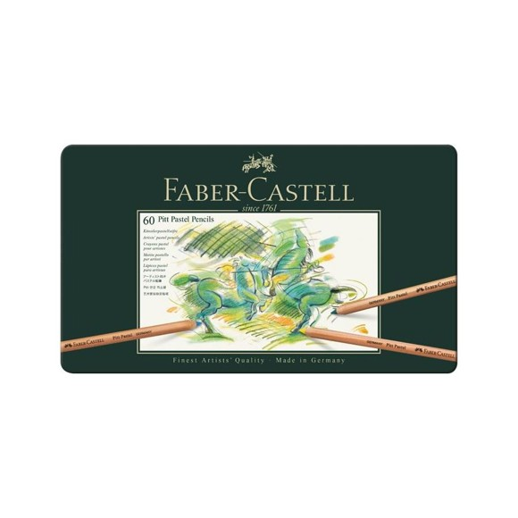 Faber-Castell - Pitt Pastel farveblyanter, 60 stk (112160)